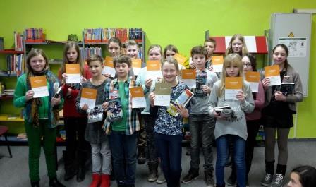Teilnehmer Regionalentscheid in der Stadtbibliothek Falkensee